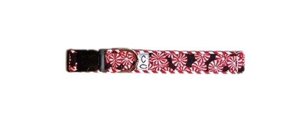 Holiday Peppermint Candy Dog Collar