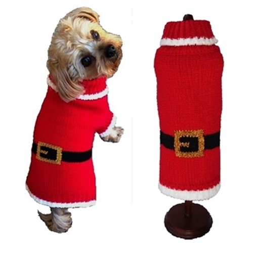 Holiday Santa Paws Dog Sweater   - dal-paws-sweater