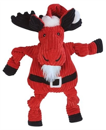 Hugglehounds Santa Moose Dog Toy