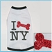 I Bone New York Long Sleeved Dog Tee Shirt - rufluv-bone-nyX-3UX