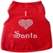 I Heart Santa Dog Shirt - iss-heartsantaS-UJP