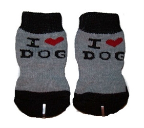 I Love My Dog Socks