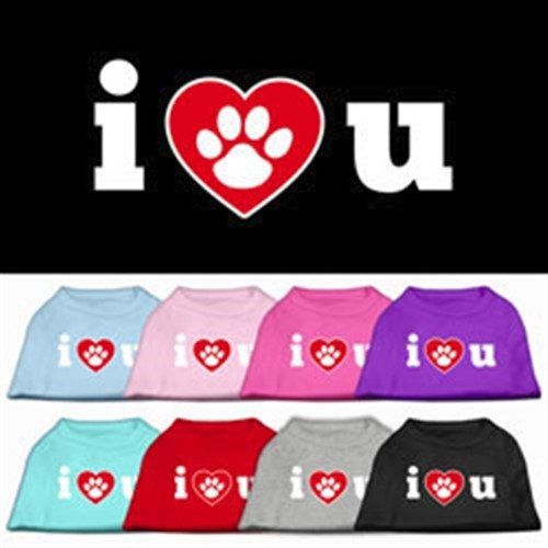 I Love U Screen Print Tank - Mir-loveu