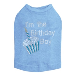 Im The Birthday Boy Shirt in Many Colors Roxy & Lulu, wooflink, susan lanci, dog clothes, small dog clothes, urban pup, pooch outfitters, dogo, hip doggie, doggie design, small dog dress, pet clotes, dog boutique. pet boutique, bloomingtails dog boutique, dog raincoat, dog rain coat, pet raincoat, dog shampoo, pet shampoo, dog bathrobe, pet bathrobe, dog carrier, small dog carrier, doggie couture, pet couture, dog football, dog toys, pet toys, dog clothes sale, pet clothes sale, shop local, pet store, dog store, dog chews, pet chews, worthy dog, dog bandana, pet bandana, dog halloween, pet halloween, dog holiday, pet holiday, dog teepee, custom dog clothes, pet pjs, dog pjs, pet pajamas, dog pajamas,dog sweater, pet sweater, dog hat, fabdog, fab dog, dog puffer coat, dog winter ja
