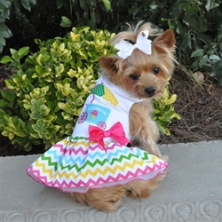 Ice Cream Cart Dress with D-Ring and Matching Leash  wooflink, susan lanci, dog clothes, small dog clothes, urban pup, pooch outfitters, dogo, hip doggie, doggie design, small dog dress, pet clotes, dog boutique. pet boutique, bloomingtails dog boutique, dog raincoat, dog rain coat, pet raincoat, dog shampoo, pet shampoo, dog bathrobe, pet bathrobe, dog carrier, small dog carrier, doggie couture, pet couture, dog football, dog toys, pet toys, dog clothes sale, pet clothes sale, shop local, pet store, dog store, dog chews, pet chews, worthy dog, dog bandana, pet bandana, dog halloween, pet halloween, dog holiday, pet holiday, dog teepee, custom dog clothes, pet pjs, dog pjs, pet pajamas, dog pajamas,dog sweater, pet sweater, dog hat, fabdog, fab dog, dog puffer coat, dog winter jacket, dog col