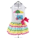 Ice Cream Cart Dress with D-Ring and Matching Leash  - dd-icecream-dress