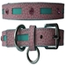 Inlaid Leather Collar with Swarovski Crystals-Various Colors - ccc-inlaid-collar