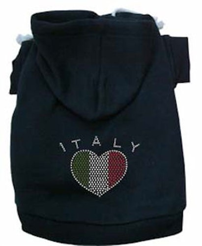 Italian  Rhinestone  Dog Hoodie - More Colors  dog bowls,susan lanci, puppia,wooflink, luxury dog boutique,tonimari,pet clothes, dog clothes, puppy clothes, pet store, dog store, puppy boutique store, dog boutique, pet boutique, puppy boutique, Bloomingtails, dog, small dog clothes, large dog clothes, large dog costumes, small dog costumes, pet stuff, Halloween dog, puppy Halloween, pet Halloween, clothes, dog puppy Halloween, dog sale, pet sale, puppy sale, pet dog tank, pet tank, pet shirt, dog shirt, puppy shirt,puppy tank, I see spot, dog collars, dog leads, pet collar, pet lead,puppy collar, puppy lead, dog toys, pet toys, puppy toy, dog beds, pet beds, puppy bed,  beds,dog mat, pet mat, puppy mat, fab dog pet sweater, dog sweater, dog winter, pet winter,dog raincoat, pet raincoat