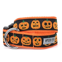 Jack O Lantern Dog Collar & Lead   pet clothes, dog clothes, puppy clothes, pet store, dog store, puppy boutique store, dog boutique, pet boutique, puppy boutique, Bloomingtails, dog, small dog clothes, large dog clothes, large dog costumes, small dog costumes, pet stuff, Halloween dog, puppy Halloween, pet Halloween, clothes, dog puppy Halloween, dog sale, pet sale, puppy sale, pet dog tank, pet tank, pet shirt, dog shirt, puppy shirt,puppy tank, I see spot, dog collars, dog leads, pet collar, pet lead,puppy collar, puppy lead, dog toys, pet toys, puppy toy, dog beds, pet beds, puppy bed,  beds,dog mat, pet mat, puppy mat, fab dog pet sweater, dog sweater, dog winter, pet winter,dog raincoat, pet raincoat, dog harness, puppy harness, pet harness, dog collar, dog lead, pet l
