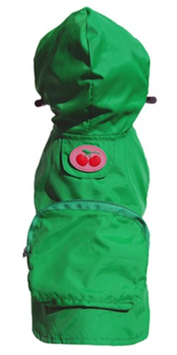 Kelly Green Cherry Raincoat    wooflink, susan lanci, dog clothes, small dog clothes, urban pup, pooch outfitters, dogo, hip doggie, doggie design, small dog dress, pet clotes, dog boutique. pet boutique, bloomingtails dog boutique, dog raincoat, dog rain coat, pet raincoat, dog shampoo, pet shampoo, dog bathrobe, pet bathrobe, dog carrier, small dog carrier, doggie couture, pet couture, dog football, dog toys, pet toys, dog clothes sale, pet clothes sale, shop local, pet store, dog store, dog chews, pet chews, worthy dog, dog bandana, pet bandana, dog halloween, pet halloween, dog holiday, pet holiday, dog teepee, custom dog clothes, pet pjs, dog pjs, pet pajamas, dog pajamas,dog sweater, pet sweater, dog hat, fabdog, fab dog, dog puffer coat, dog winter jacket