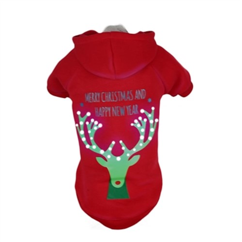 LED Lighting Christmas Reindeer Sweater Hoodie  pet clothes, dog clothes, puppy clothes, pet store, dog store, puppy boutique store, dog boutique, pet boutique, puppy boutique, Bloomingtails, dog, small dog clothes, large dog clothes, large dog costumes, small dog costumes, pet stuff, Halloween dog, puppy Halloween, pet Halloween, clothes, dog puppy Halloween, dog sale, pet sale, puppy sale, pet dog tank, pet tank, pet shirt, dog shirt, puppy shirt,puppy tank, I see spot, dog collars, dog leads, pet collar, pet lead,puppy collar, puppy lead, dog toys, pet toys, puppy toy, dog beds, pet beds, puppy bed,  beds,dog mat, pet mat, puppy mat, fab dog pet sweater, dog sweater, dog winter, pet winter,dog raincoat, pet raincoat, dog harness, puppy harness, pet harness, dog collar, dog lead, pet l