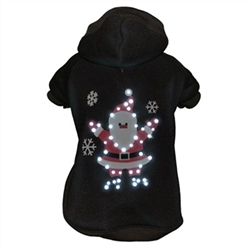 LED Lighting Juggling Santa Sweater Hoodie  pet clothes, dog clothes, puppy clothes, pet store, dog store, puppy boutique store, dog boutique, pet boutique, puppy boutique, Bloomingtails, dog, small dog clothes, large dog clothes, large dog costumes, small dog costumes, pet stuff, Halloween dog, puppy Halloween, pet Halloween, clothes, dog puppy Halloween, dog sale, pet sale, puppy sale, pet dog tank, pet tank, pet shirt, dog shirt, puppy shirt,puppy tank, I see spot, dog collars, dog leads, pet collar, pet lead,puppy collar, puppy lead, dog toys, pet toys, puppy toy, dog beds, pet beds, puppy bed,  beds,dog mat, pet mat, puppy mat, fab dog pet sweater, dog sweater, dog winter, pet winter,dog raincoat, pet raincoat, dog harness, puppy harness, pet harness, dog collar, dog lead, pet l