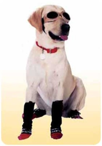 Leg Wraps for Dogs - Legwarmers in Black