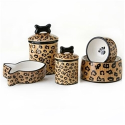 Leopard Bowls & Treat Jars Collection