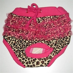 Leopard Ruffled Dog Panties