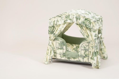Light Green Dog Canopy Bed