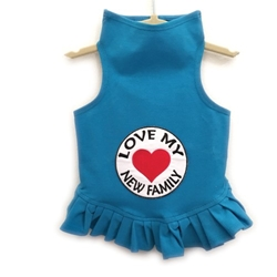 Love Family Flounce Dress or Tank   wooflink, susan lanci, dog clothes, small dog clothes, urban pup, pooch outfitters, dogo, hip doggie, doggie design, small dog dress, pet clotes, dog boutique. pet boutique, bloomingtails dog boutique, dog raincoat, dog rain coat, pet raincoat, dog shampoo, pet shampoo, dog bathrobe, pet bathrobe, dog carrier, small dog carrier, doggie couture, pet couture, dog football, dog toys, pet toys, dog clothes sale, pet clothes sale, shop local, pet store, dog store, dog chews, pet chews, worthy dog, dog bandana, pet bandana, dog halloween, pet halloween, dog holiday, pet holiday, dog teepee, custom dog clothes, pet pjs, dog pjs, pet pajamas, dog pajamas,dog sweater, pet sweater, dog hat, fabdog, fab dog, dog puffer coat, dog winter jacket, dog col
