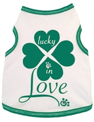 Lucky In Love Shirt puppia,wooflink, luxury dog boutique,tonimari,pet clothes, dog clothes, puppy clothes, pet store, dog store, puppy boutique store, dog boutique, pet boutique, puppy boutique, Bloomingtails, dog, small dog clothes, large dog clothes, large dog costumes, small dog costumes, pet stuff, Halloween dog, puppy Halloween, pet Halloween, clothes, dog puppy Halloween, dog sale, pet sale, puppy sale, pet dog tank, pet tank, pet shirt, dog shirt, puppy shirt,puppy tank, I see spot, dog collars, dog leads, pet collar, pet lead,puppy collar, puppy lead, dog toys, pet toys, puppy toy, dog beds, pet beds, puppy bed,  beds,dog mat, pet mat, puppy mat, fab dog pet sweater, dog sweater, dog winter, pet winter,dog raincoat, pet raincoat, dog harness, puppy har