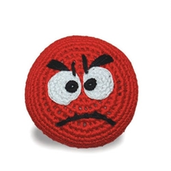 Mad Face Squeaker Chew Toy