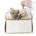 Marlee Carrier in Ivory Quilted - pet-marleeivoryq