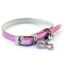 Metallic Faux Leather Bling Dog Collar - Pink or Blue  puppy bed,  beds,dog mat, pet mat, puppy mat, fab dog pet sweater, dog swepet clothes, dog clothes, puppy clothes, pet store, dog store, puppy boutique store, dog boutique, pet boutique, puppy boutique, Bloomingtails, dog, small dog clothes, large dog clothes, large dog costumes, small dog costumes, pet stuff, Halloween dog, puppy Halloween, pet Halloween, clothes, dog puppy Halloween, dog sale, pet sale, puppy sale, pet dog tank, pet tank, pet shirt, dog shirt, puppy shirt,puppy tank, I see spot, dog collars, dog leads, pet collar, pet lead,puppy collar, puppy lead, dog toys, pet toys, puppy toy, dog beds, pet beds, puppy bed,  beds,dog mat, pet mat, puppy mat, fab dog pet sweater, dog sweater, dog winter, pet winter,dog raincoat, pet rai