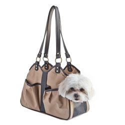 Metro 2 Carrier in Tan & Black wooflink, susan lanci, dog clothes, small dog clothes, urban pup, pooch outfitters, dogo, hip doggie, doggie design, small dog dress, pet clotes, dog boutique. pet boutique, bloomingtails dog boutique, dog raincoat, dog rain coat, pet raincoat, dog shampoo, pet shampoo, dog bathrobe, pet bathrobe, dog carrier, small dog carrier, doggie couture, pet couture, dog football, dog toys, pet toys, dog clothes sale, pet clothes sale, shop local, pet store, dog store, dog chews, pet chews, worthy dog, dog bandana, pet bandana, dog halloween, pet halloween, dog holiday, pet holiday, dog teepee, custom dog clothes, pet pjs, dog pjs, pet pajamas, dog pajamas,dog sweater, pet sweater, dog hat, fabdog, fab dog, dog puffer coat, dog winter jacket, dog col