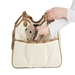 Metro Couture Carrier in Quilted Ivory with Tassle - pet-metroivoryquilt