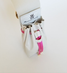 Mia Bella Collection-Ivory & Fuchsia-Ultimate Poop Bag Dispenser      susan lanci, puppia,wooflink, luxury dog boutique,tonimari,pet clothes, dog clothes, puppy clothes, pet store, dog store, puppy boutique store, dog boutique, pet boutique, puppy boutique, Bloomingtails, dog, small dog clothes, large dog clothes, large dog costumes, small dog costumes, pet stuff, Halloween dog, puppy Halloween, pet Halloween, clothes, dog puppy Halloween, dog sale, pet sale, puppy sale, pet dog tank, pet tank, pet shirt, dog shirt, puppy shirt,puppy tank, I see spot, dog collars, dog leads, pet collar, pet lead,puppy collar, puppy lead, dog toys, pet toys, puppy toy, dog beds, pet beds, puppy bed,  beds,dog mat, pet mat, puppy mat, fab dog pet sweater, dog sweater, dog winter, pet winter,dog raincoat, pet raincoat, dog harn