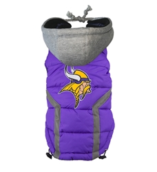 Minnesota Vikings Puffer Coat  Roxy & Lulu, wooflink, susan lanci, dog clothes, small dog clothes, urban pup, pooch outfitters, dogo, hip doggie, doggie design, small dog dress, pet clotes, dog boutique. pet boutique, bloomingtails dog boutique, dog raincoat, dog rain coat, pet raincoat, dog shampoo, pet shampoo, dog bathrobe, pet bathrobe, dog carrier, small dog carrier, doggie couture, pet couture, dog football, dog toys, pet toys, dog clothes sale, pet clothes sale, shop local, pet store, dog store, dog chews, pet chews, worthy dog, dog bandana, pet bandana, dog halloween, pet halloween, dog holiday, pet holiday, dog teepee, custom dog clothes, pet pjs, dog pjs, pet pajamas, dog pajamas,dog sweater, pet sweater, dog hat, fabdog, fab dog, dog puffer coat, dog winter ja