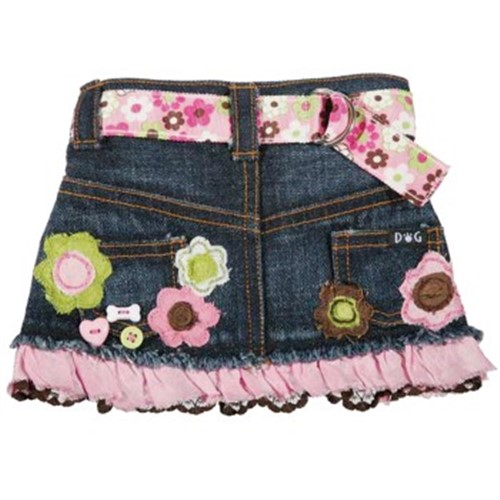 Molly Denim Dog  Skirt - dic-molly-skirt