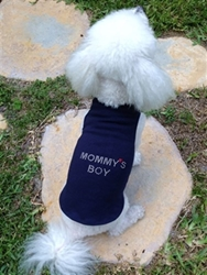 Mommys Boy Dog Tank - More Colors wooflink, susan lanci, dog clothes, small dog clothes, urban pup, pooch outfitters, dogo, hip doggie, doggie design, small dog dress, pet clotes, dog boutique. pet boutique, bloomingtails dog boutique, dog raincoat, dog rain coat, pet raincoat, dog shampoo, pet shampoo, dog bathrobe, pet bathrobe, dog carrier, small dog carrier, doggie couture, pet couture, dog football, dog toys, pet toys, dog clothes sale, pet clothes sale, shop local, pet store, dog store, dog chews, pet chews, worthy dog, dog bandana, pet bandana, dog halloween, pet halloween, dog holiday, pet holiday, dog teepee, custom dog clothes, pet pjs, dog pjs, pet pajamas, dog pajamas,dog sweater, pet sweater, dog hat, fabdog, fab dog, dog puffer coat, dog winter jacket, dog col