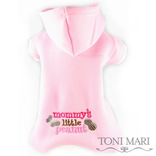 Mommys Little Peanut Embroidered Fleece Hooded Pajamas  dog bowls,susan lanci, puppia,wooflink, luxury dog boutique,tonimari,pet clothes, dog clothes, puppy clothes, pet store, dog store, puppy boutique store, dog boutique, pet boutique, puppy boutique, Bloomingtails, dog, small dog clothes, large dog clothes, large dog costumes, small dog costumes, pet stuff, Halloween dog, puppy Halloween, pet Halloween, clothes, dog puppy Halloween, dog sale, pet sale, puppy sale, pet dog tank, pet tank, pet shirt, dog shirt, puppy shirt,puppy tank, I see spot, dog collars, dog leads, pet collar, pet lead,puppy collar, puppy lead, dog toys, pet toys, puppy toy, dog beds, pet beds, puppy bed,  beds,dog mat, pet mat, puppy mat, fab dog pet sweater, dog sweater, dog winter, pet winter,dog raincoat, pet raincoat