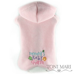 Mommys Lucky Charm Embroidered Fleece Hooded Pajamas