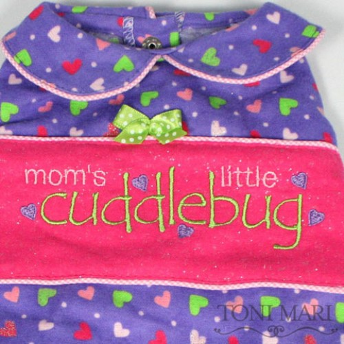 Moms Little Cuddle Bug Dog Pajamas in Many Colors - tm-cuddle