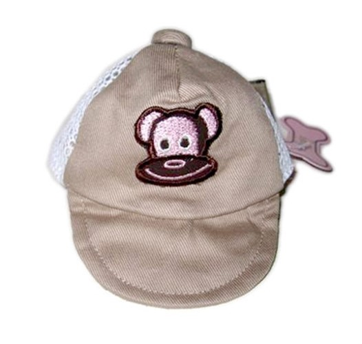 Monkey Daze Logo Dog Hat in Pink or Tan - MD-tan-hatP-S81