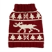 Burgundy Moose Dog  Sweater - fab-moose-burg
