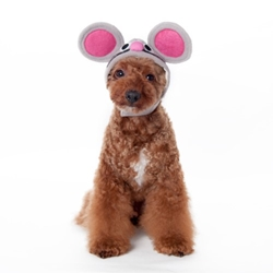 Mouse Hat   Roxy & Lulu, wooflink, susan lanci, dog clothes, small dog clothes, urban pup, pooch outfitters, dogo, hip doggie, doggie design, small dog dress, pet clotes, dog boutique. pet boutique, bloomingtails dog boutique, dog raincoat, dog rain coat, pet raincoat, dog shampoo, pet shampoo, dog bathrobe, pet bathrobe, dog carrier, small dog carrier, doggie couture, pet couture, dog football, dog toys, pet toys, dog clothes sale, pet clothes sale, shop local, pet store, dog store, dog chews, pet chews, worthy dog, dog bandana, pet bandana, dog halloween, pet halloween, dog holiday, pet holiday, dog teepee, custom dog clothes, pet pjs, dog pjs, pet pajamas, dog pajamas,dog sweater, pet sweater, dog hat, fabdog, fab dog, dog puffer coat, dog winter ja