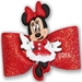 Dog Bows-Mrs. Minnie Claus Dog Hair Bow - hb-mrsclaus