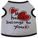 My Heart Belongs to You Dog Tank - iss-heart-tankS-LJR