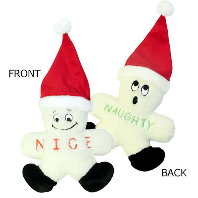 Naughty or Nice Fleece Snowman