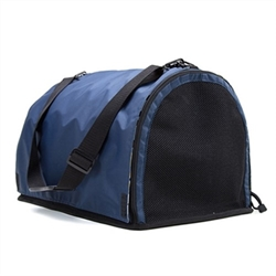 Navy Blue Puppy Shell Carrier