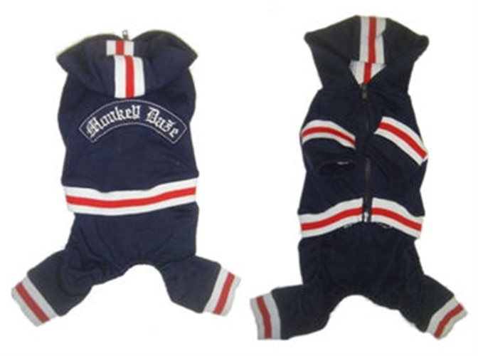 Navy Fleece Dog Jumper