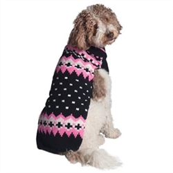 Navy/Pink Alpine Dog Sweater