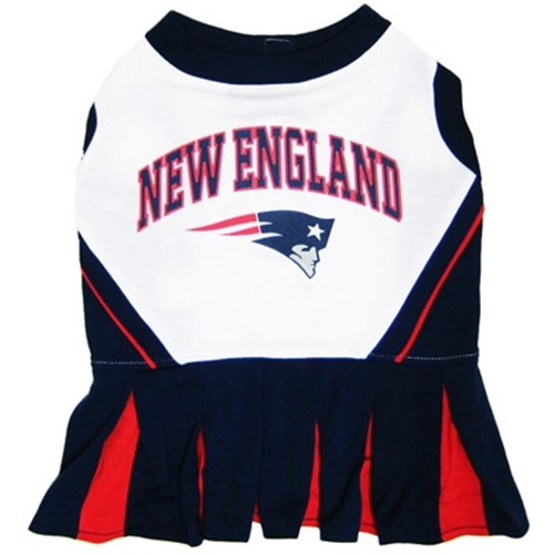 New England Patriots Cheerleader Dog Dress - dn-necheerleader