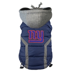 New York Giants Puffer Coat  Roxy & Lulu, wooflink, susan lanci, dog clothes, small dog clothes, urban pup, pooch outfitters, dogo, hip doggie, doggie design, small dog dress, pet clotes, dog boutique. pet boutique, bloomingtails dog boutique, dog raincoat, dog rain coat, pet raincoat, dog shampoo, pet shampoo, dog bathrobe, pet bathrobe, dog carrier, small dog carrier, doggie couture, pet couture, dog football, dog toys, pet toys, dog clothes sale, pet clothes sale, shop local, pet store, dog store, dog chews, pet chews, worthy dog, dog bandana, pet bandana, dog halloween, pet halloween, dog holiday, pet holiday, dog teepee, custom dog clothes, pet pjs, dog pjs, pet pajamas, dog pajamas,dog sweater, pet sweater, dog hat, fabdog, fab dog, dog puffer coat, dog winter ja