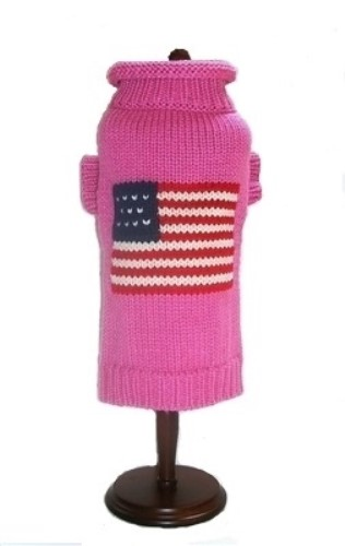 Patriotic Pup Sweater in Navy, Pink or Gray - daldog-pp