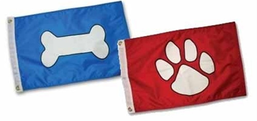 Paws Aboard Boat Flag