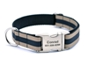Personalized Collar & Lead Layered Stripe Khaki & Black