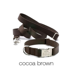 Personalized Collar & Lead in Cocoa Brown  dog bowls,susan lanci, puppia,wooflink, luxury dog boutique,tonimari,pet clothes, dog clothes, puppy clothes, pet store, dog store, puppy boutique store, dog boutique, pet boutique, puppy boutique, Bloomingtails, dog, small dog clothes, large dog clothes, large dog costumes, small dog costumes, pet stuff, Halloween dog, puppy Halloween, pet Halloween, clothes, dog puppy Halloween, dog sale, pet sale, puppy sale, pet dog tank, pet tank, pet shirt, dog shirt, puppy shirt,puppy tank, I see spot, dog collars, dog leads, pet collar, pet lead,puppy collar, puppy lead, dog toys, pet toys, puppy toy, dog beds, pet beds, puppy bed,  beds,dog mat, pet mat, puppy mat, fab dog pet sweater, dog sweater, dog winter, pet winter,dog raincoat, pet raincoat