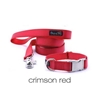 Personalized Collar & Lead in Crimson Red